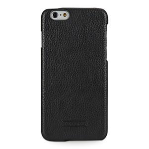 Кожаный чехол накладка (нат. кожа) серия Back Cover для Iphone 6 Plus Черный