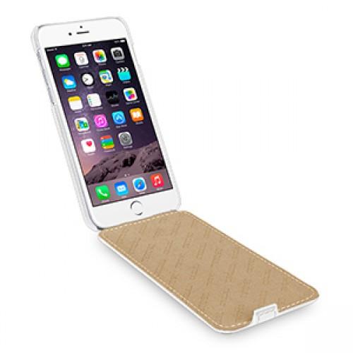 Кожаный чехол вертикальная книжка (нат. кожа) для Iphone 6 Plus
