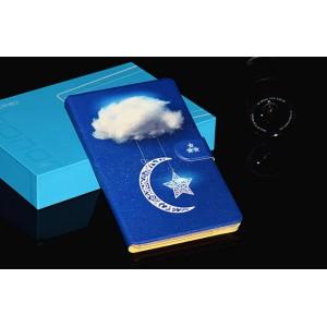 Чехол книжка подставка на непрозрачной поликарбонатной основе с магнитной защелкой и полноповерхностным принтом для Huawei MediaPad T3 7