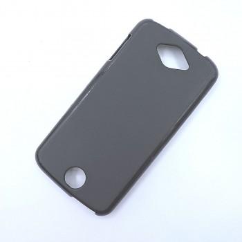 Силиконовый матовый полупрозрачный чехол для Acer Liquid Z530 Черный