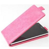 Чехол вертикальная книжка на клеевой основе с магнитной застежкой для Micromax Canvas Xpress 2 Розовый