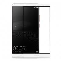 Полноэкранное ультратонкое износоустойчивое сколостойкое олеофобное защитное стекло-пленка для Huawei Mate 8 Белый