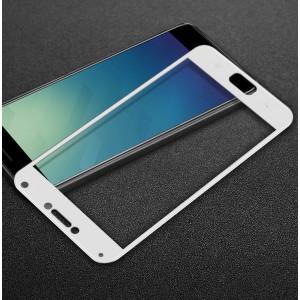 Полноэкранное ультратонкое износоустойчивое сколостойкое олеофобное защитное стекло-пленка для Asus ZenFone 4 Max Белый