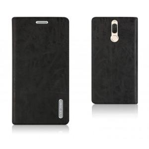 Винтажный чехол портмоне подставка текстура Узоры с отсеком для карт на присосках для Huawei Nova 2i