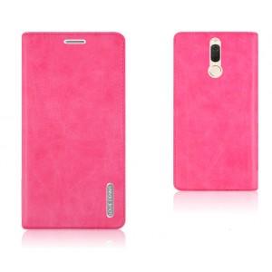 Винтажный чехол портмоне подставка текстура Узоры с отсеком для карт на присосках для Huawei Nova 2i Розовый