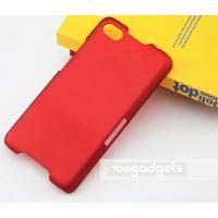 Пластиковый матовый металлик чехол для Blackberry Z30 Красный