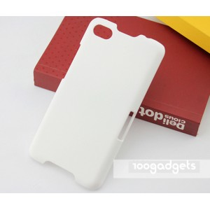 Пластиковый матовый металлик чехол для Blackberry Z30 Белый