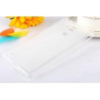 Силиконовый матовый полупрозрачный чехол для Huawei Ascend Mate 7 Белый