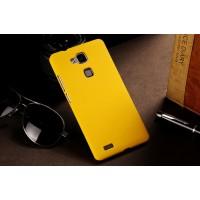 Пластиковый матовый непрозрачный чехол для Huawei Ascend Mate 7 Желтый