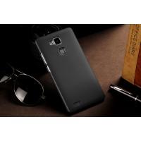 Пластиковый матовый непрозрачный чехол для Huawei Ascend Mate 7 Черный