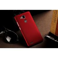 Пластиковый матовый непрозрачный чехол для Huawei Ascend Mate 7 Красный