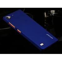 Пластиковый матовый чехол для Lenovo Vibe X2 Синий