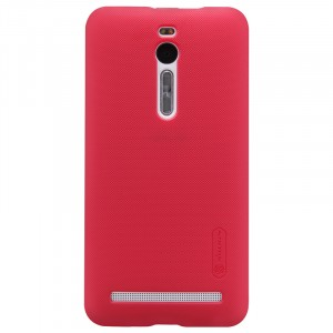 Пластиковый матовый нескользящий премиум чехол для Asus Zenfone 2 Красный