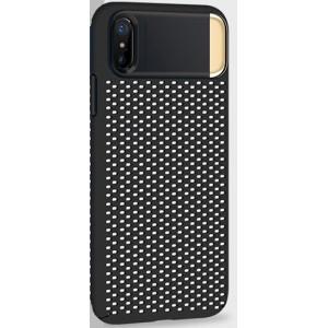 Пластиковый непрозрачный матовый чехол с подставкой и улучшенной защитой элементов корпуса для Iphone X 10/XS