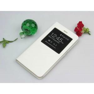 Чехол горизонтальная книжка подставка на пластиковой основе с окном вызова для BQ Magic