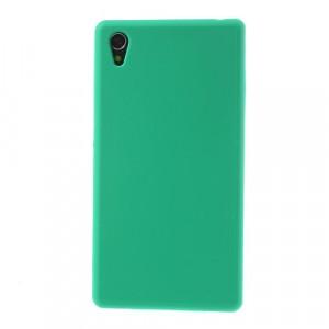 Силиконовый матовый непрозрачный чехол для Sony Xperia Z1 Зеленый