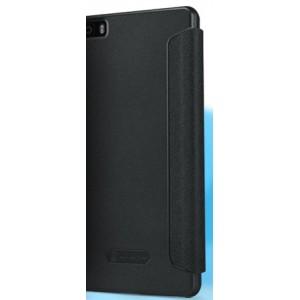 Текстурный чехол смарт флип с окном вызова на пластиковой основе для Huawei P8