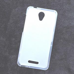 Силиконовый матовый полупрозрачный чехол для Alcatel Pop 4 Белый