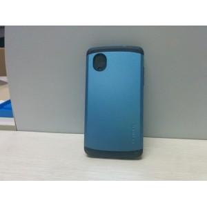 Премиум силикон-поликарбонат чехол с повышенной защитой для Google Nexus 5 Синий