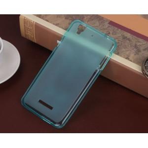 Силиконовый матовый полупрозрачный чехол для ASUS ZenFone Go 4.5 ZB452KG Голубой