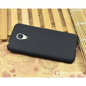 Пластиковый матовый чехол с повышенной шероховатостью для Meizu MX5 Черный