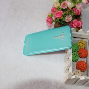 Силиконовый матовый полупрозрачный чехол для ASUS Zenfone Selfie Голубой