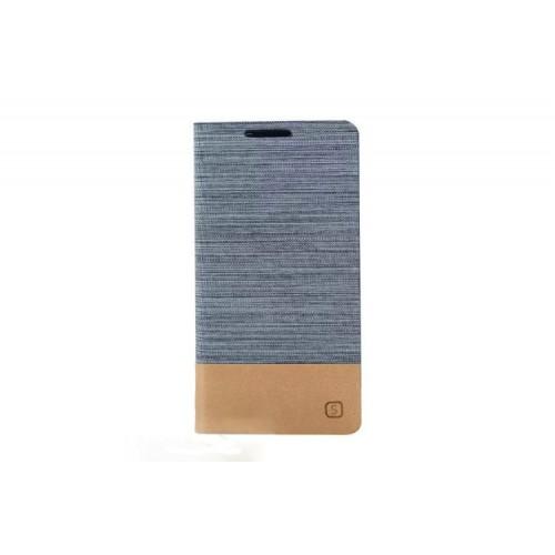 Чехол горизонтальная книжка подставка текстура Линии на силиконовой основе с отсеком для карт для HTC One (M7) Dual SIM