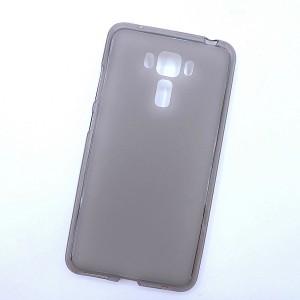 Силиконовый матовый полупрозрачный чехол для Asus ZenFone 3 Laser Серый