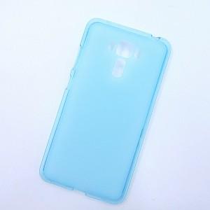 Силиконовый матовый полупрозрачный чехол для Asus ZenFone 3 Laser Голубой