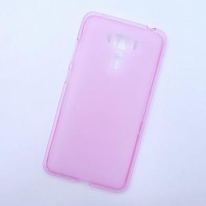 Силиконовый матовый полупрозрачный чехол для Asus ZenFone 3 Laser Розовый