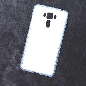 Силиконовый матовый полупрозрачный чехол для Asus ZenFone 3 Laser Белый