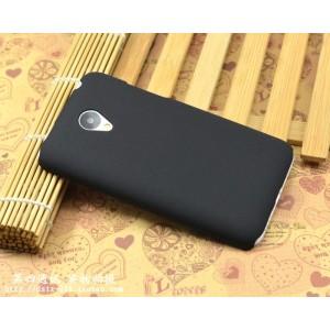 Пластиковый матовый непрозрачный чехол повышенной шероховатости для Meizu M2 Mini Черный
