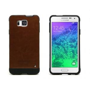 Текстурный двухкомпонентный премиум чехол для Samsung Galaxy Alpha