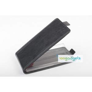 Чехол вертикальная книжка на пластиковой основе с магнитной застежкой для Fly IQ4501 EVO Energie 4 Quad Черный