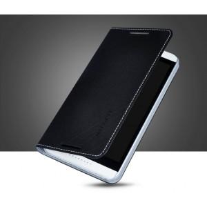 Чехол флип подставка на пластиковой основе с отделением для карт для HTC Desire 816 Черный