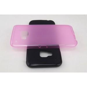 Силиконовый матовый полупрозрачный чехол для HTC One M9 Черный