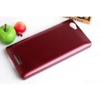 Пластиковый матовый металлик чехол для Fly IQ4501 EVO Energie 4 Quad Красный