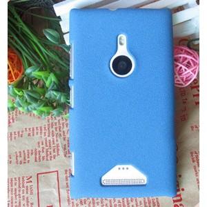 Пластиковый матовый чехол с повышенной шероховатостью для Nokia Lumia 925 Синий