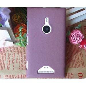 Пластиковый матовый чехол с повышенной шероховатостью для Nokia Lumia 925 Коричневый