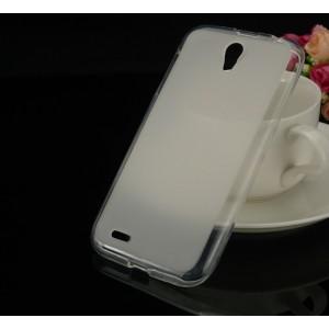 Силиконовый матовый полупрозрачный чехол для Lenovo A859 Ideaphone
