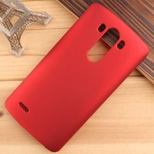 Пластиковый чехол для LG Optimus G3 Красный