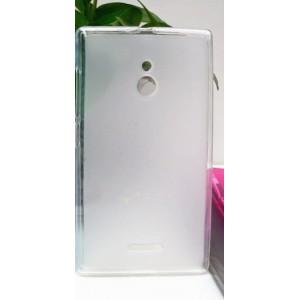 Силиконовый матовый полупрозрачный чехол для Nokia XL Белый