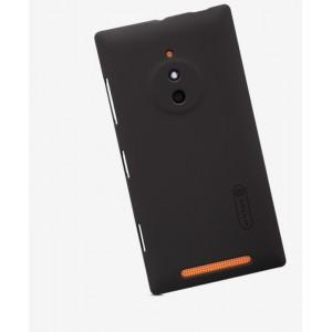 Пластиковый матовый нескользящий премиум чехол для Nokia Lumia 830 Коричневый