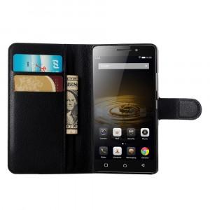 Чехол портмоне подставка с защелкой для Lenovo Vibe P1m Черный