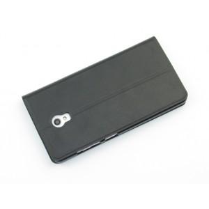 Чехол флип подставка текстурный с окном вызова для Lenovo Vibe P1m Черный