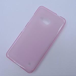 Силиконовый матовый полупрозрачный чехол для Microsoft Lumia 550 Розовый