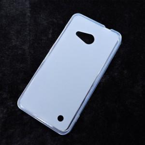Силиконовый матовый полупрозрачный чехол для Microsoft Lumia 550 Белый