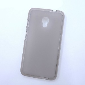 Силиконовый матовый полупрозрачный чехол для Alcatel Pixi 4 (5) 4G 5045d 5045x Серый