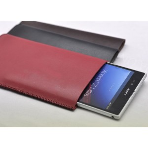 Кожаный мешок для Sony Xperia T2 Ultra Красный