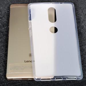 Силиконовый матовый полупрозрачный чехол для Lenovo Phab 2 Plus Белый